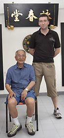 Sifu Colin Ward with IP Chun